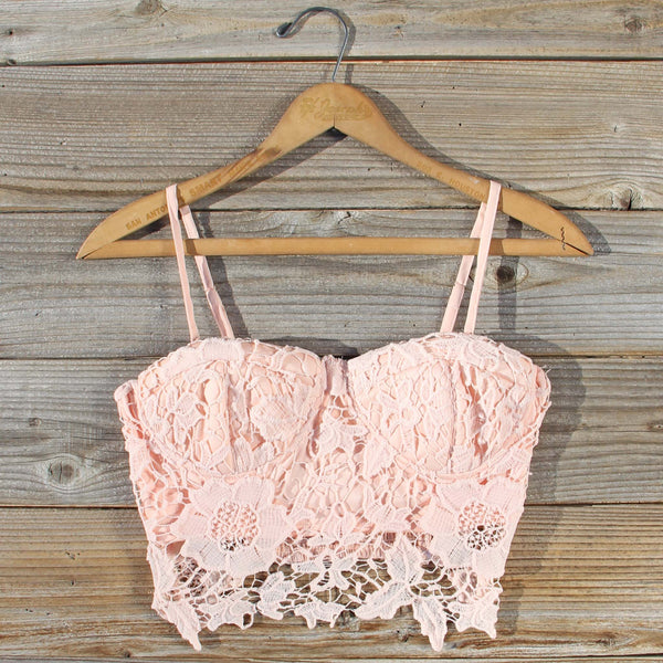 La Lune Lace Bustier in Peony: Featured Product Image