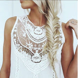 Lace Gypsy Tunic Dress in White: Alternate View #1
