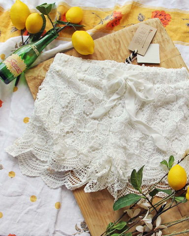 Italian Lace Beach Shorts