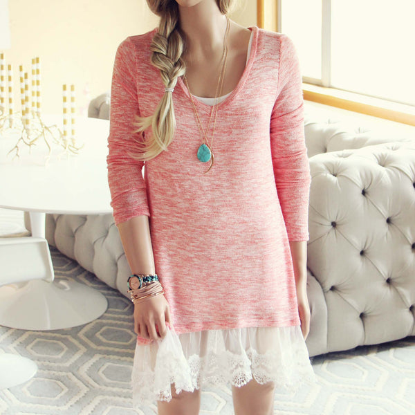 Lace Cactus Dress in Pink: Featured Product Image