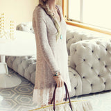 Lace Cactus Dress in Taupe: Alternate View #3