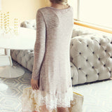 Lace Cactus Dress in Taupe: Alternate View #4