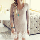 Lace Cactus Dress in Taupe: Alternate View #1