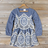 Chambray & Lace Dress: Alternate View #1
