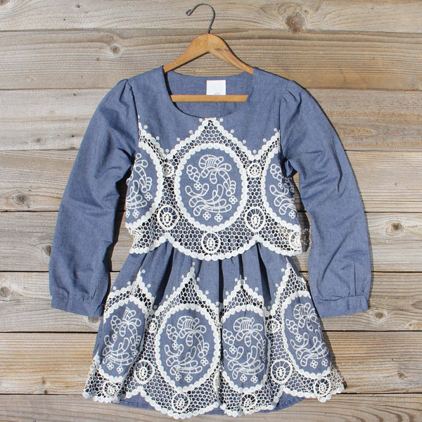 Chambray & Lace Dress: Featured Product Image