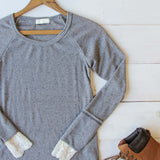 Lace Cuff Thermal in Gray: Alternate View #2