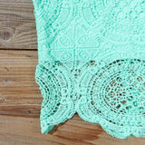 Ancient Lace Dress in Mint: Alternate View #2