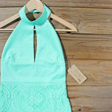 Ancient Lace Dress in Mint: Alternate View #3