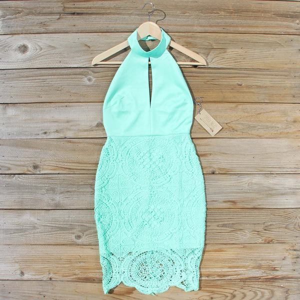 Ancient Lace Dress in Mint: Featured Product Image