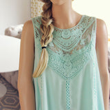 Lace Gypsy Dress in Sage: Alternate View #2