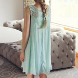 Lace Gypsy Dress in Sage: Alternate View #4