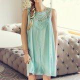 Lace Gypsy Dress in Sage: Alternate View #1