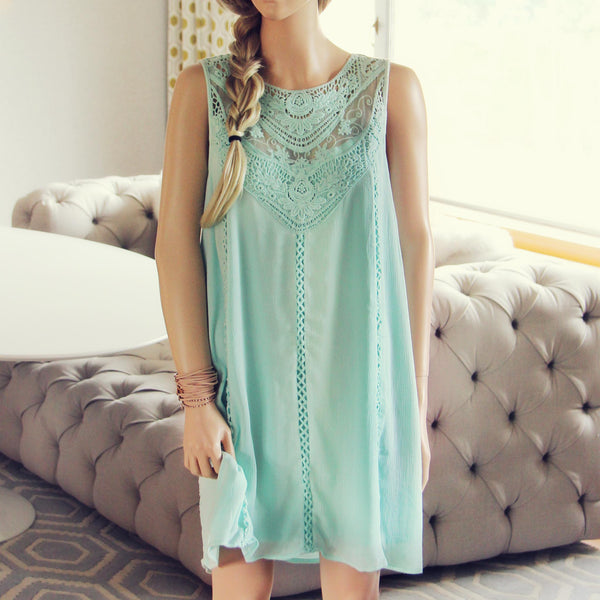 Lace Gypsy Dress in Sage: Featured Product Image