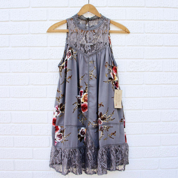 Lace Gypsy Dress in Shadow: Featured Product Image