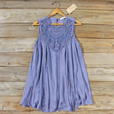 Lace Gypsy Dress in Slate: Alternate View #1