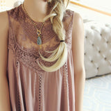 Lace Gypsy Dress in Taupe: Alternate View #2