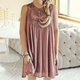 Lace Gypsy Dress in Taupe: Alternate View #1