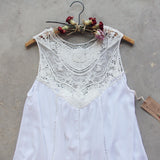 Lace Gypsy Tunic Dress in White: Alternate View #3