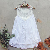 Lace Gypsy Dress in White (wholesale): Alternate View #4