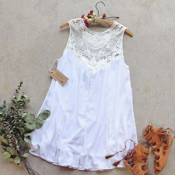 Lace Gypsy Dress in White: Featured Product Image