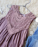 Lace Gypsy Tank in Taupe: Alternate View #3
