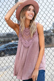 Lace Gypsy Tank in Taupe: Alternate View #2