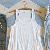 The Lace Hem Layering Tank in White: Alternate View #2