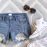 Laced Denim Shorts: Alternate View #2