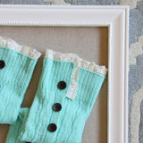 Winter Lace Boot Socks in Mint: Alternate View #2