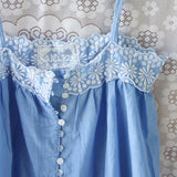 Lace Springs Maxi Dress in Sky (wholesale): Alternate View #3