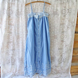 Lace Springs Maxi Dress in Sky: Alternate View #2