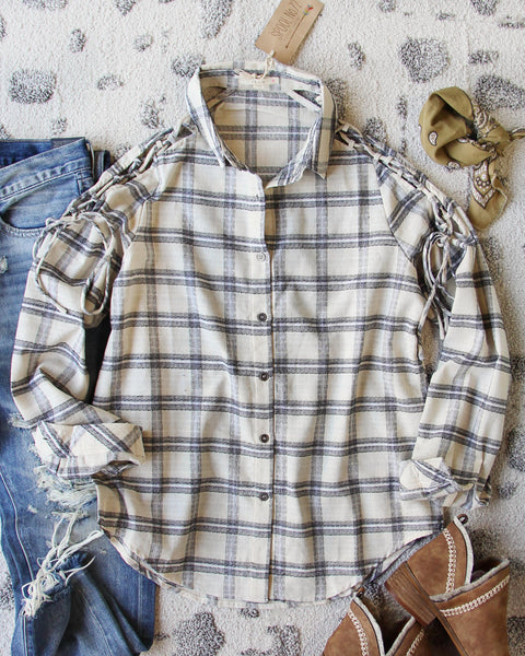 Tied Plaid Top: Featured Product Image