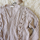 Laced Front Sweater: Alternate View #3