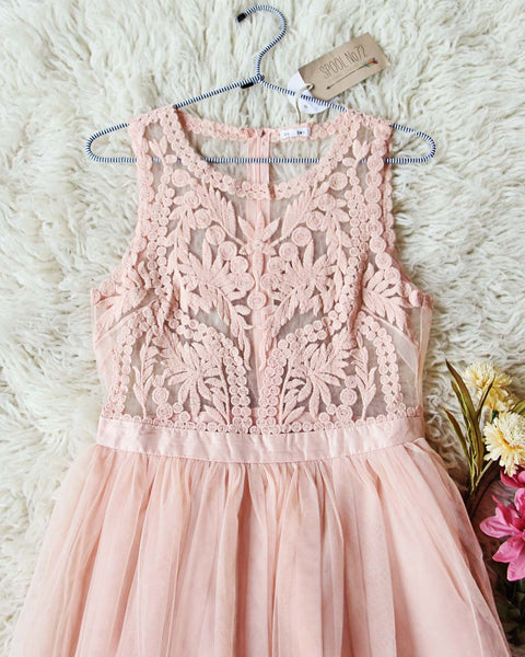 Laced in Sky Dress in Pink: Featured Product Image