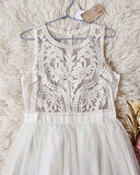 Laced in Sky Dress in Ivory: Alternate View #1