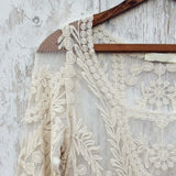 Laced in Snow Blouse in Cream: Alternate View #2