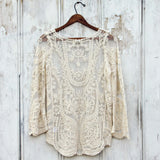 Laced in Snow Blouse in Cream: Alternate View #4