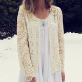Laced in Snow Cardigan: Alternate View #2