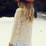 Laced in Snow Cardigan: Alternate View #1