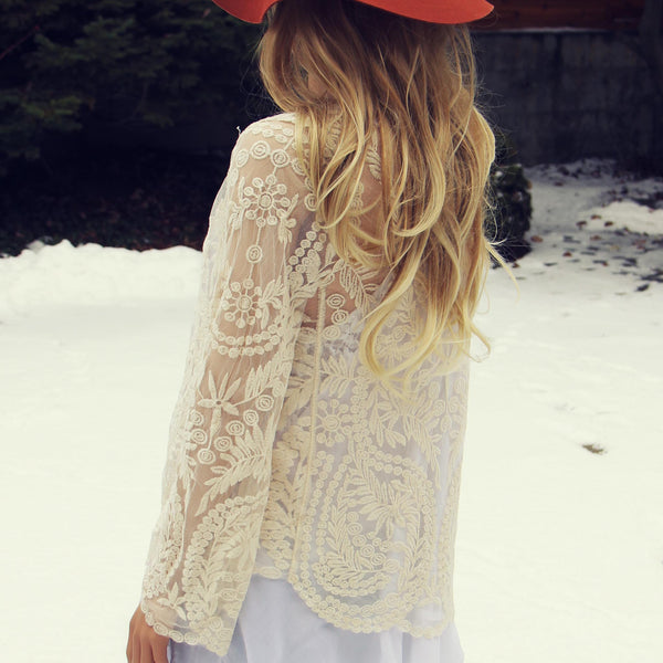 Laced in Snow Cardigan: Featured Product Image