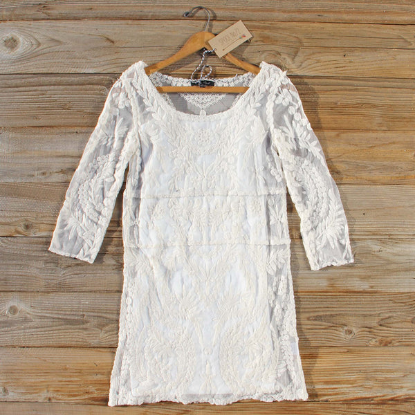 Laced in Snow Dress: Featured Product Image