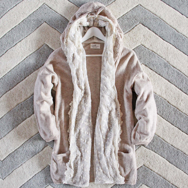 Laced Moon Hoodie in Cream: Featured Product Image