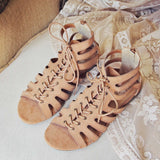 Laced Sand Sandals: Alternate View #1