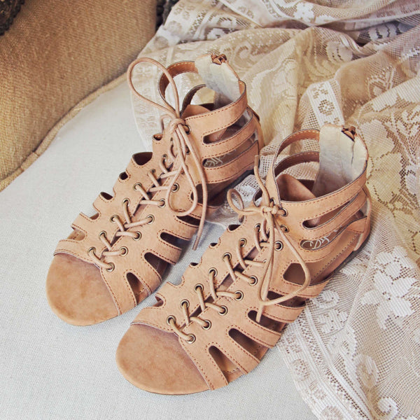 Laced Sand Sandals: Featured Product Image