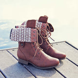 The Laced Sky Boots: Alternate View #1