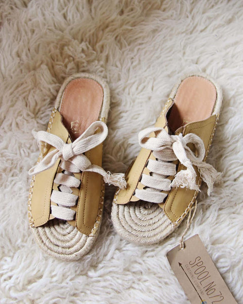 Laced Espadrilles in Mustard: Featured Product Image