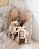 Laced Espadrilles in Sand: Alternate View #2