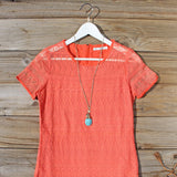 Lacey Tee Shirt Dress in Orange: Alternate View #2