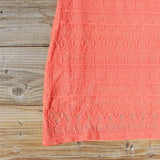 Lacey Tee Shirt Dress in Orange: Alternate View #3