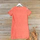 Lacey Tee Shirt Dress in Orange: Alternate View #4